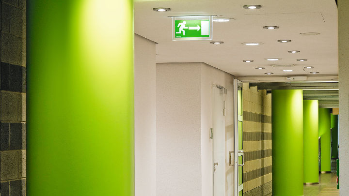 Philips office lighting extends down the corridors of Provinzial Rheinland Versicherung AG