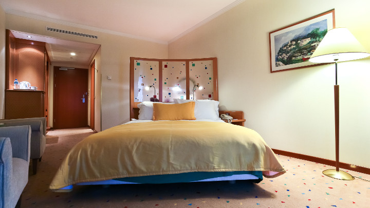 Philips hospitality lighting is showcased in this Radisson Blu Centrum guestroom