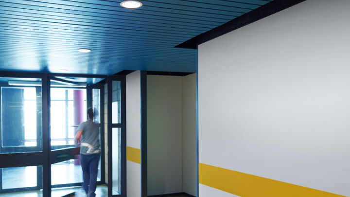 The corridor at Strijp-S illuminated by Philips Lighting