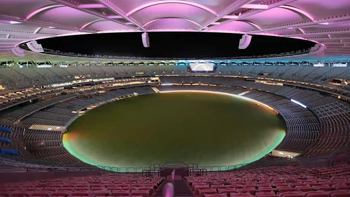 Optus Stadium façade lighting