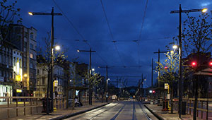 Philips CosmoPolis illuminates effectively a tram stop