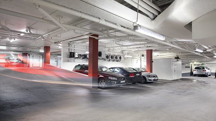 Philips Lighting's GreenParking: optimize car park lighting for vehicles using presence detection and zonal dimming
