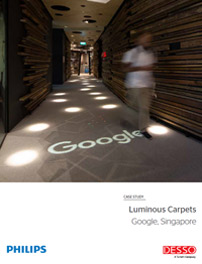 Case study Google Singapore Luminous Carpets