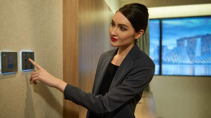 Hotel lighting: Philips Lighting's RoomFlex provides one-touch controls for guests