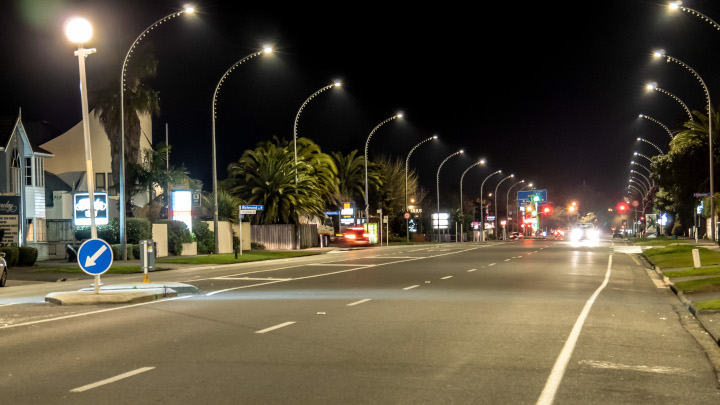 New Zealand's first warm white street lighting