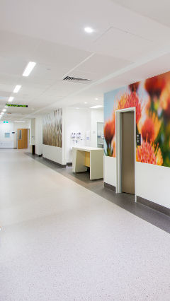 Hospital Lighting at NRAH, Australia